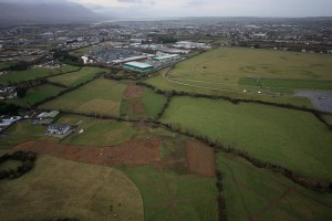 Tralee Bypass Clash Link Road Aerial Photo Archaeological Investigation Stage
