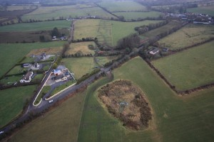 Aerial photo of N22, Tralee Bypass crossing a minor road at ClashDesmond, Tralee, Co.Kerry, Ireland