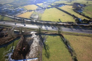 Tralee Bypass - Aerial Photo of Tralee Bypass at intersection with N22 at Ballingarry Hotel, Tralee, Co.Kerry, Ireland